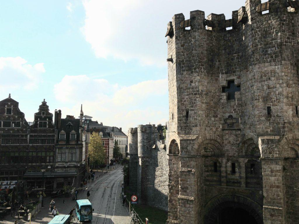 Die Burg Gravensteen in Gent