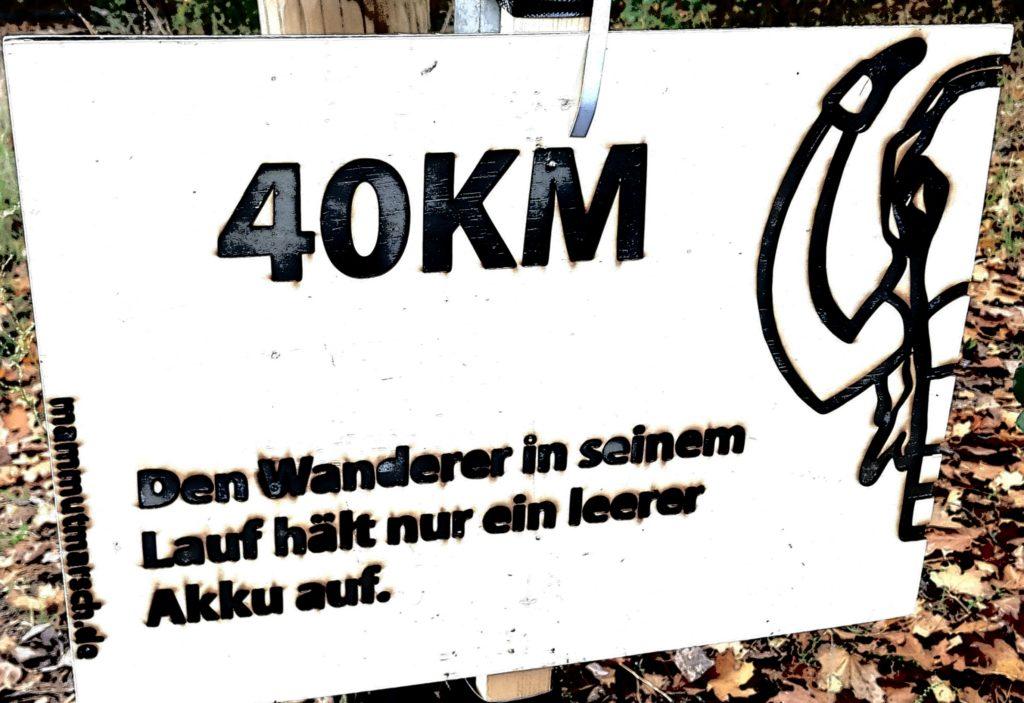 Nur noch 15 km zum Ziel vom Mammutmarsch