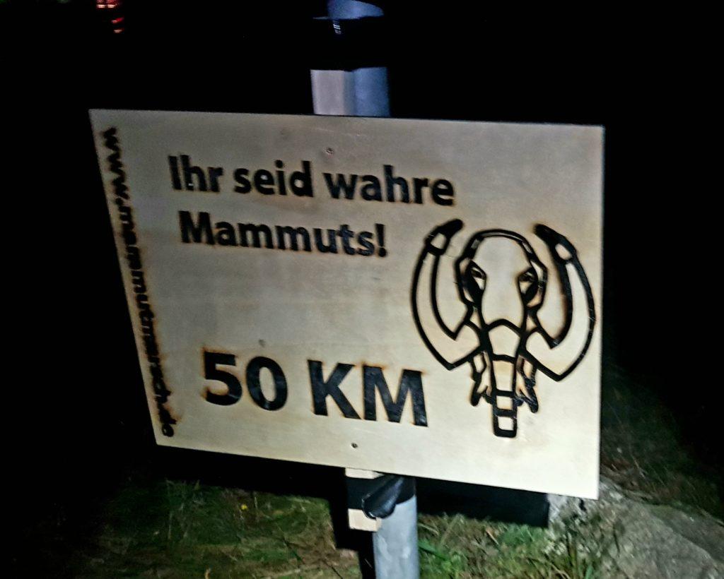 Kilometer 50 vom Mammutmarsch